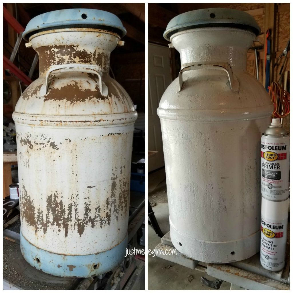 Take your vintage milk can and restore it with these milk can restoration tips. If you have a rusty milk jug you can refinish it. - eattravellife.com