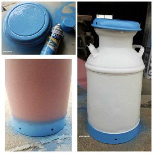 vintage milk can restoration diy