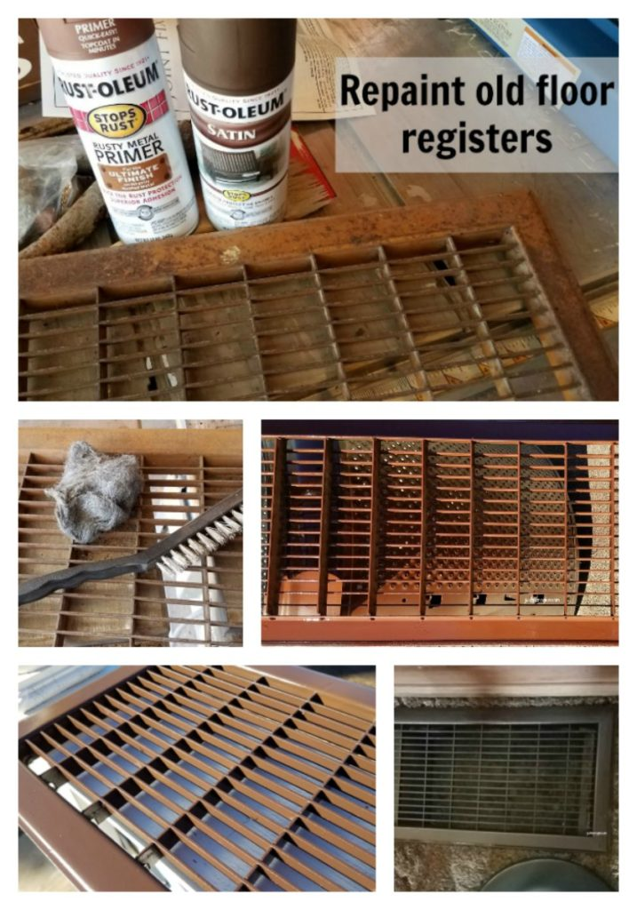 Instead of buying new heat registers, check out how you can repaint registers to make them like new. This is helpful when you have odd size registers. - eattravellife.com