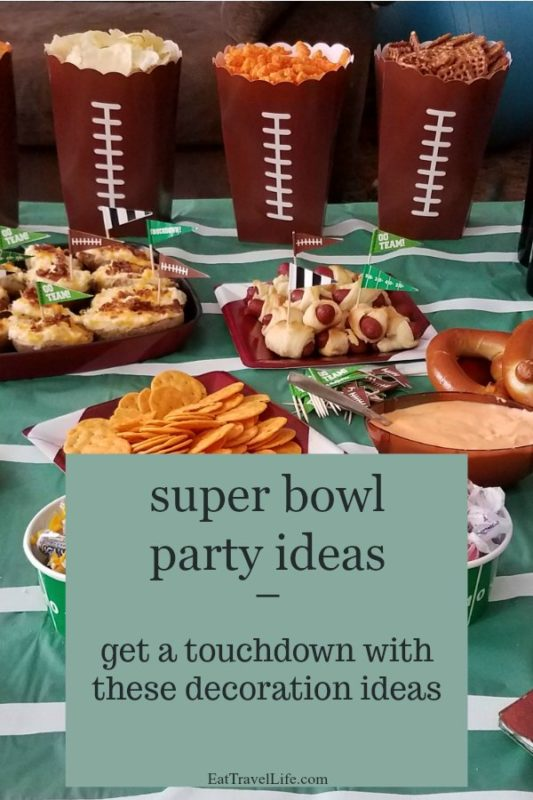 When the super bowl or other football parties happen, check out these ideas to decorate and serve food that will have you dancing in the end zone. #footballpartyfood #footballsnacks #footballbirthdayparty #superbowlpartyideas #superbowlfood #superbowldecorations #superbowlideals #superbowlparty #superbowlsunday #footballdecorations