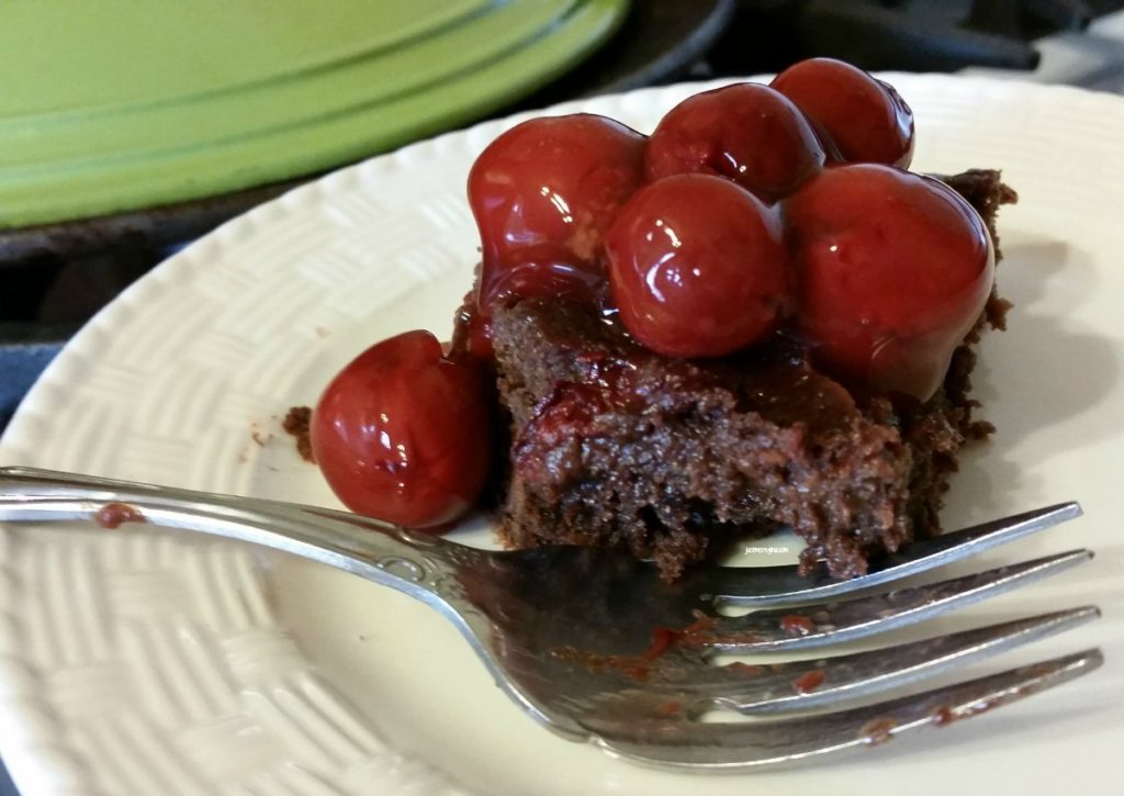 Chocolate cherry brownies are a great way to eat your sweets and fruits together. check out this chocolate cherry brownie recipe - eattravellife.com