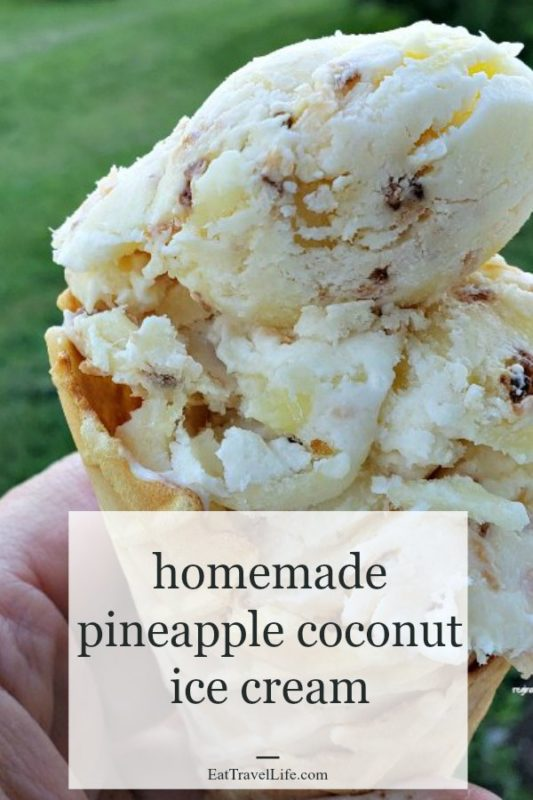 Love tropical things? Make this homemade pineapple coconut ice cream recipe with just a few ingredients. An escape that won't break the bank that is heavenly!