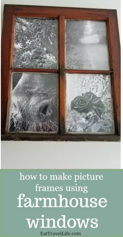 Do you have farmhouse windows and need something to do with them? See how to turn farmhouse windows into picture frames for your favorite photos.