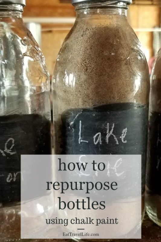 Looking for a way to save money and make a keepsake, checkout how you can repurpose glass bottles using chalk paint. Check out how we did this easily.