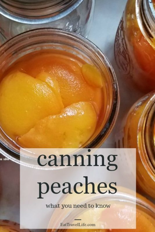 Check out this recipe for canning peaches. You can take fresh peaches and can them at home. Great way to know whats in your food.