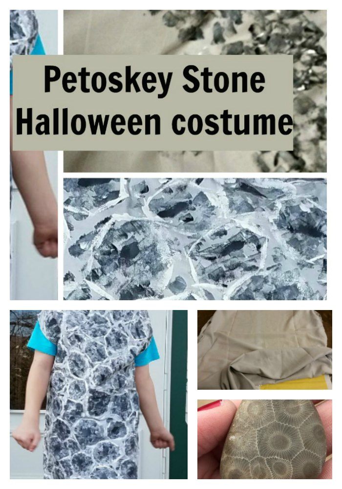 When your kid wants to be a petoskey stone for Halloween, you can be prepared with these instructions on how to make a Petoskey Stone Halloween Costume. - eattravellife.com