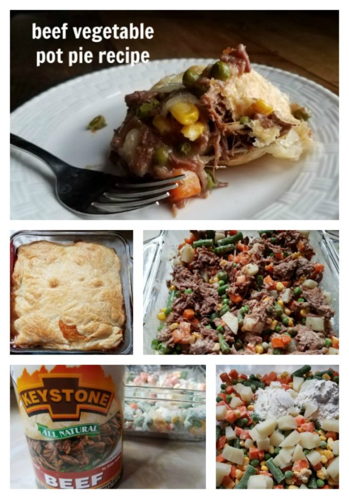 Make dinner easy with the delicious beef vegetable pot pie recipe. You dump, stir, press and bake thanks to Keystone Brand Meats. - eattravellife.com