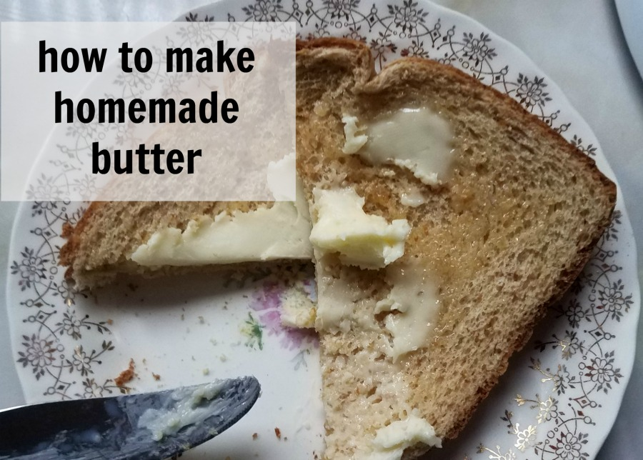 Easily make your own homemade butter with one ingredient and about 15 minutes. - eattravellife.com