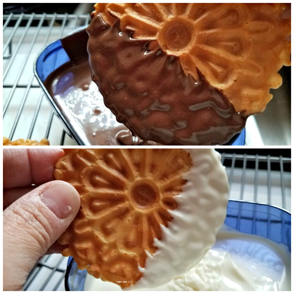 how to decorate Pizzelle cookies