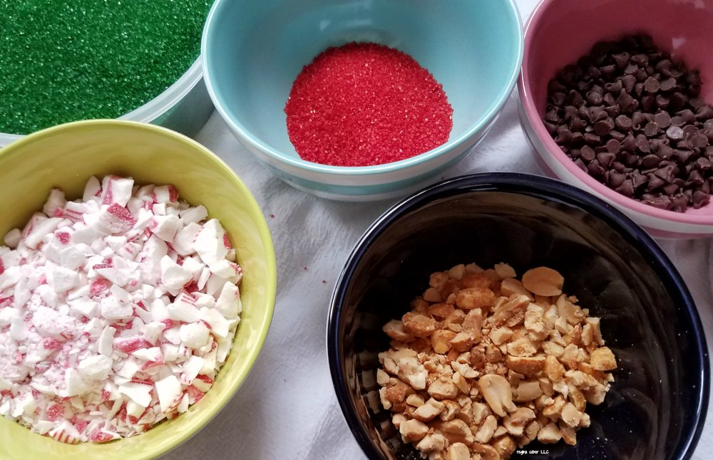 how to decorate Pizzelle cookies toppings