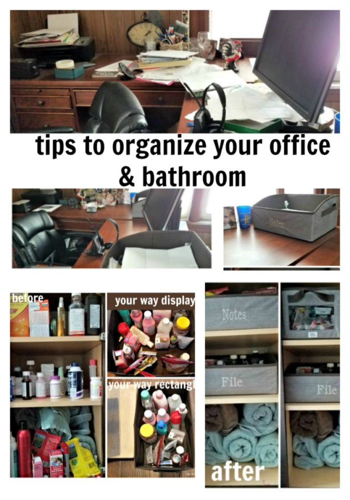 Clearing out cluttering makes life easier and feels great. Check out my organization tips and what I did to make my office (and bathroom) organized. - eattravellife.com