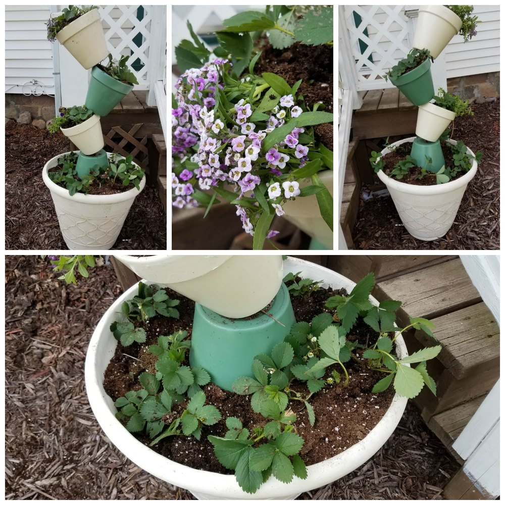 This topsy turvy flower tower project is a fun way to add a unique decoration for the front or side of your home. Put flowers in it, use it as a container garden. Great project to do with your family. - eattravellife.com