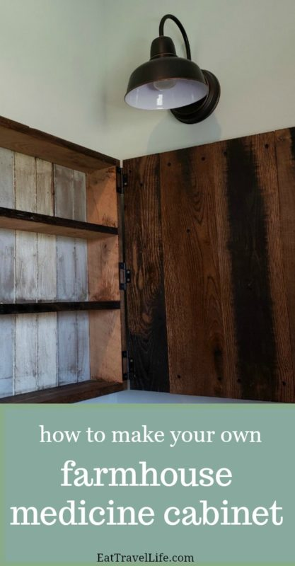 Want to make a simple farmhouse medicine cabinet? Check out how my husband and I made this medicine cabinet for our farm house. It's a simple beautiful design.