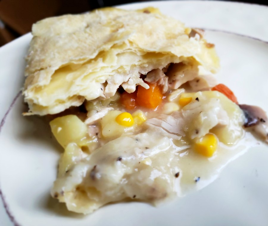 Wonder what to do with leftover chicken? Casseroles are amazing! Pot pies are quick! With your leftover veggies and chicken, you can whip up a chicken pot pie pretty quick and stretch your budget.
