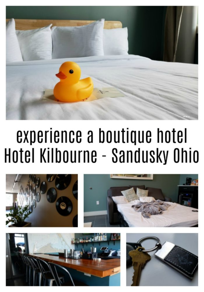 Have you ever stayed at a boutique hotel? When you are in Sandusky Ohio, check out Hotel Kilbourne. Located in downtown Sandusky off the pier by Lake Erie.