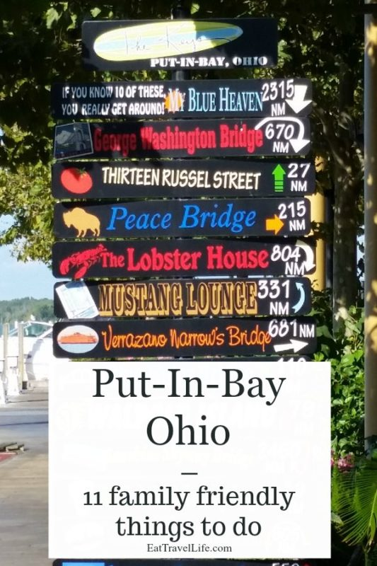 Take an island vacation with your family. Just a quick drive from Sandusky Ohio, Put-in-Bay has many family friendly things to do and enjoy.