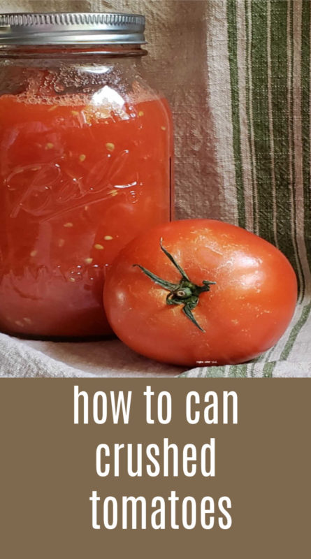 There are many ways to can tomatoes. Canning crushed tomatoes is a great way to have tomatoes on hand when you need them. Canned fresh from the garden.