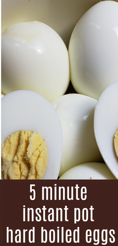 Making hard boiled eggs is so quick and easy in the Instant Pot. It just takes 5 minutes to cook them and you have eggs. Who doesn't like simple?
