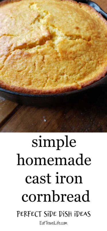Do you like your cornbread sweet? You need to try this cast iron sweet cornbread recipe. A great side to chili! Are you team butter or honey?