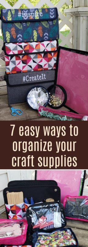 Lacking a way to organize your crafts? Do you need a system for your craft supply storage Check out how you can craft more with these tips.