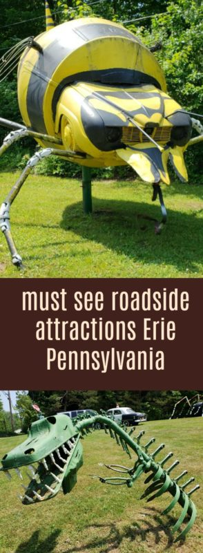 Check out the auto art roadside attraction in Erie Pennsylvania. Have you seen the bumblebee?Beautiful art your family will enjoy. And it's free!