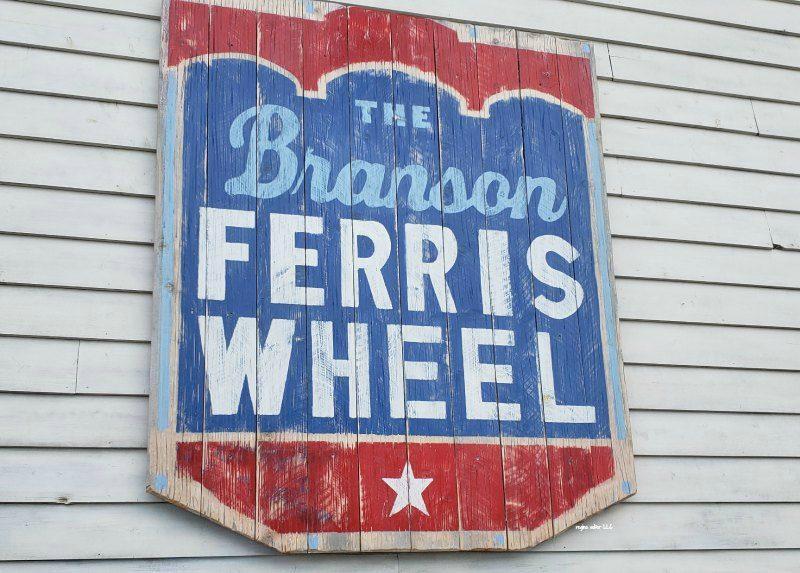 Branson Ferrish Wheel sign