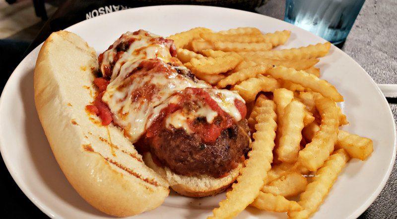 5 ounce meatball sub Pasghetti's Branson