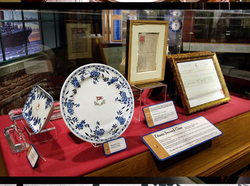 Second class dinnerware from Titanic at Titanic Branson Museum