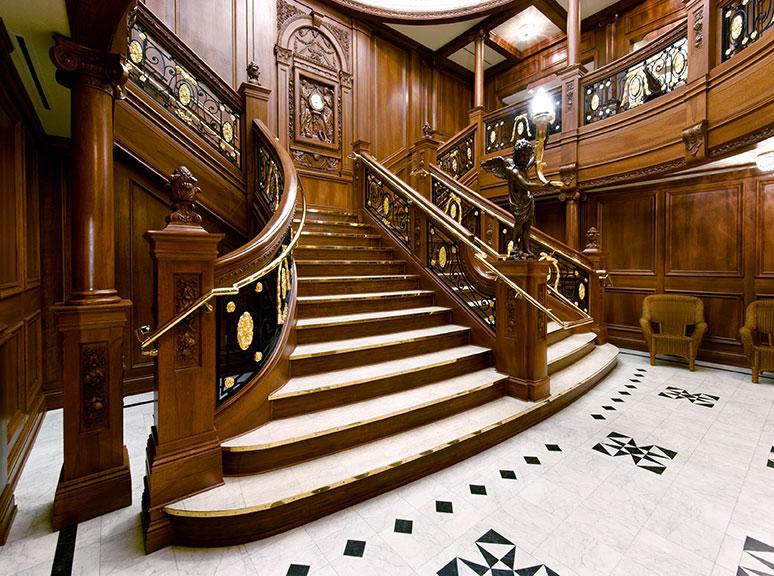 Grand Staircase replica from Titanic Museum Branson Missouri