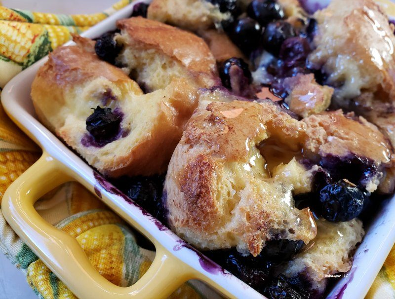 individual blueberry french toast casserole