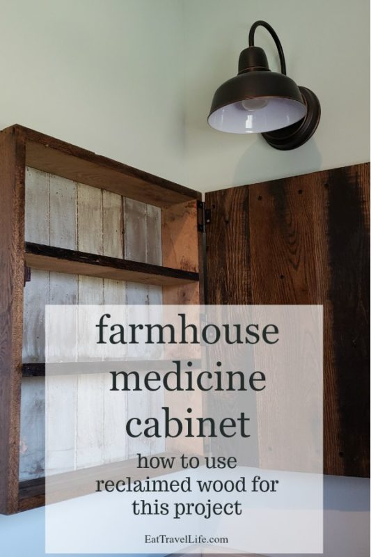 Want to make a simple farmhouse medicine cabinet? Check out how my husband and I made this medicine cabinet for our farm house. It's a simple beautiful design from reclaimed wood.