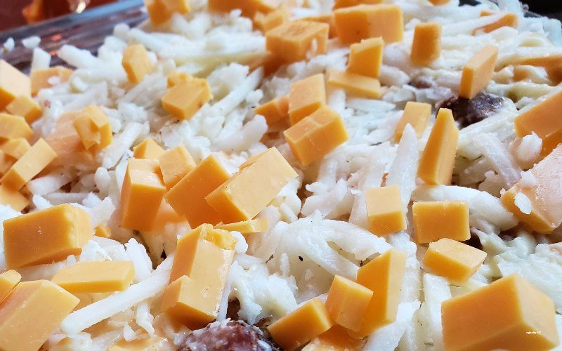 hash brown casserole with sausage