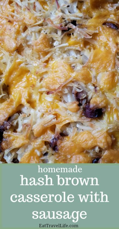 Do you have left over sausage from breakfast?  You can make this delicious hash brown casserole with sausage pretty easy.  See how you can make it.