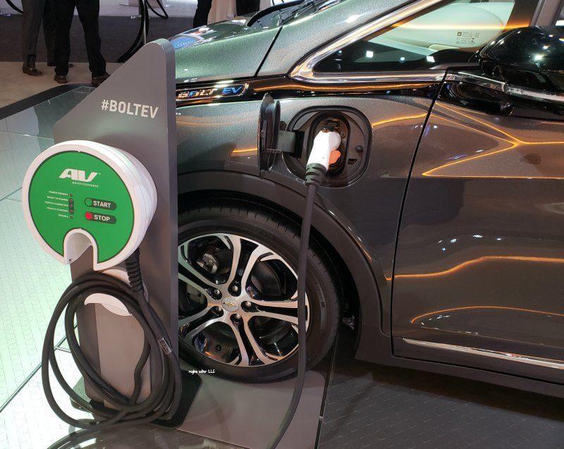 electric vehicle Chevy Bolt - Detroit Auto Show