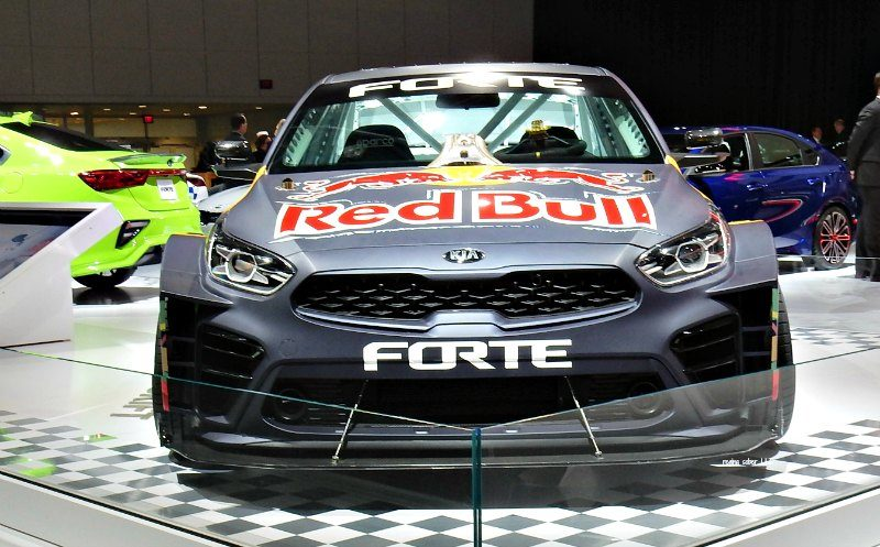 Kia Red Bull Race Car Detroit Auto Show