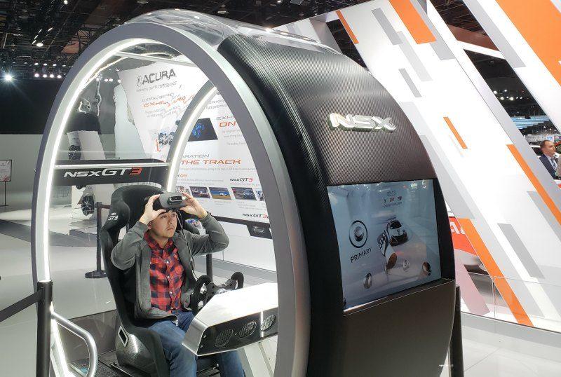 Virtual reality Detroit Auto Show