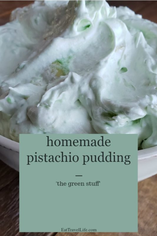 Love simple desserts? You will love this easy to make pistachio pudding. The 'green stuff' is simple, delicious and a great addition to holiday meals.