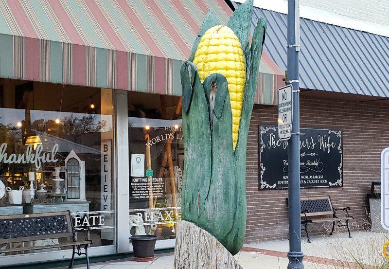big ear of corn in Casey Illinois