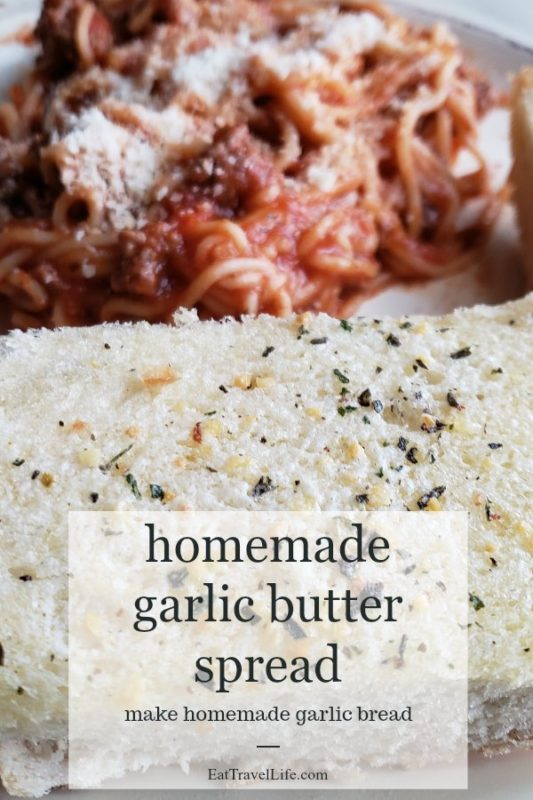 Love homemade? Take control of your garlic bread and make it something you love. Use this homemade garlic butter spread. Simple, easy & delicious!