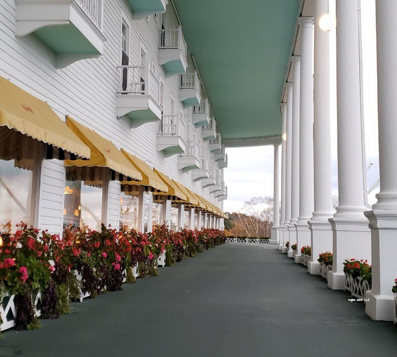 World's Largest Porch: Grand Hotel Mackinac Island Michigan