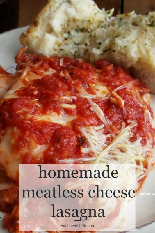Looking for a meatless meal? Make a cheese lasagna for your family. Perfect for meatless Monday. See why your family will love this cheesy dish.