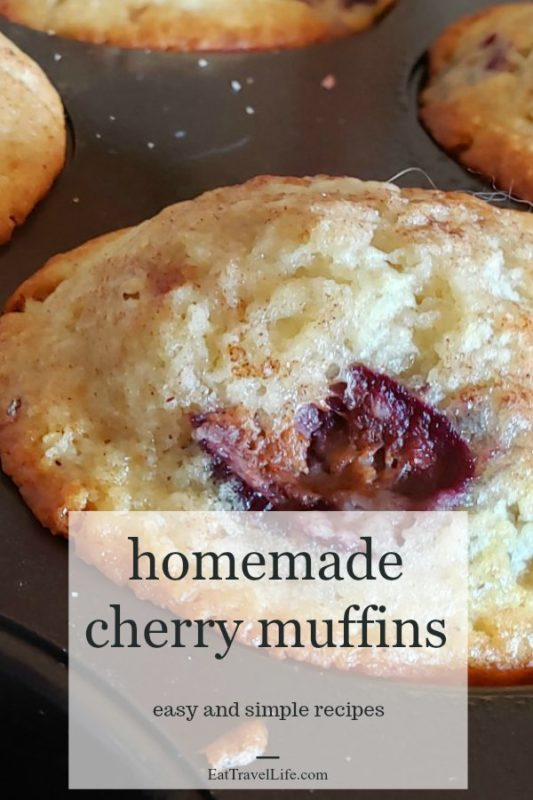 Love simple recipes? Cherry? Muffins? You'll love this cherry muffins recipe. What's better than warm homemade muffins to snack on.