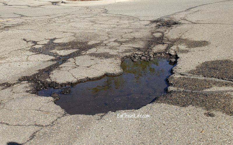 large pot hole in michigan
