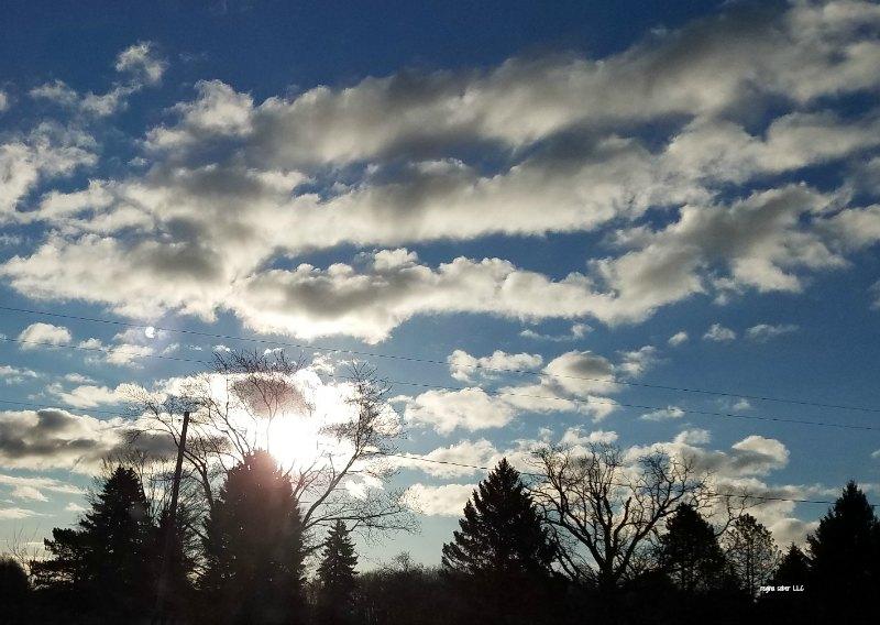 Michigan skyline with clouds