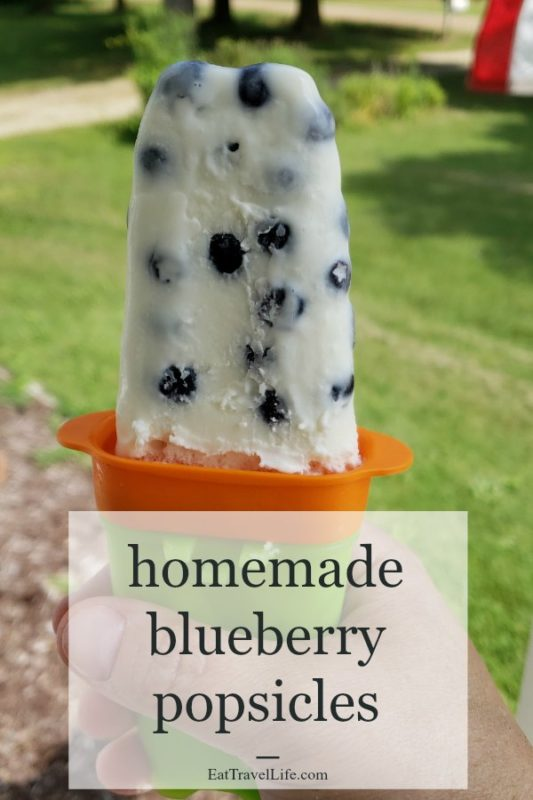 Love blueberries? Make this deliciously cream blueberry popsicles. Just 3 ingredients and you are on your way to your own blueberry ice cream popsicles.