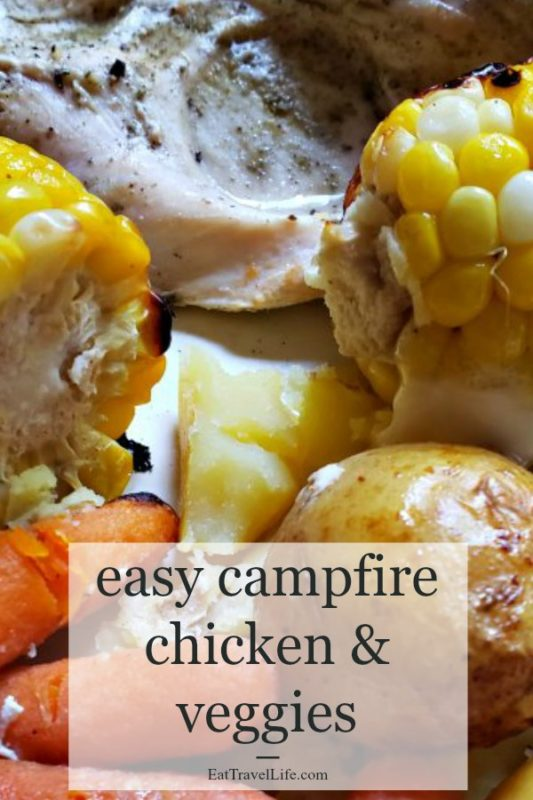 Love camping? You need to make this chicken campfire meal recipe. You don't have to settle for just hot dogs when camping. You can make delicious food.