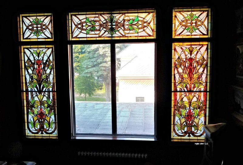stained glass window Laurium Manor mnsion