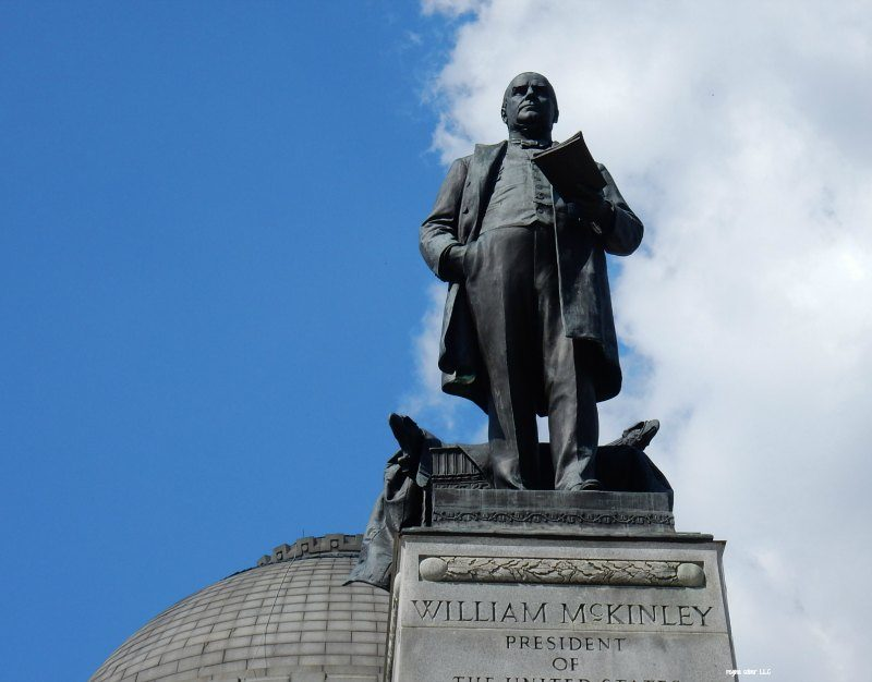 President McKinley statue at the museum