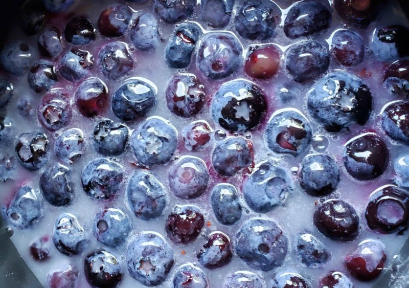 cooking blueberries
