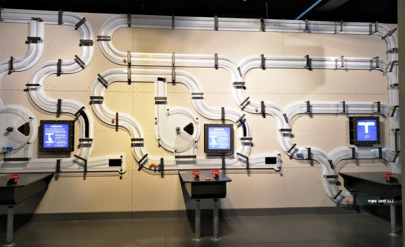 wall of science exhibit